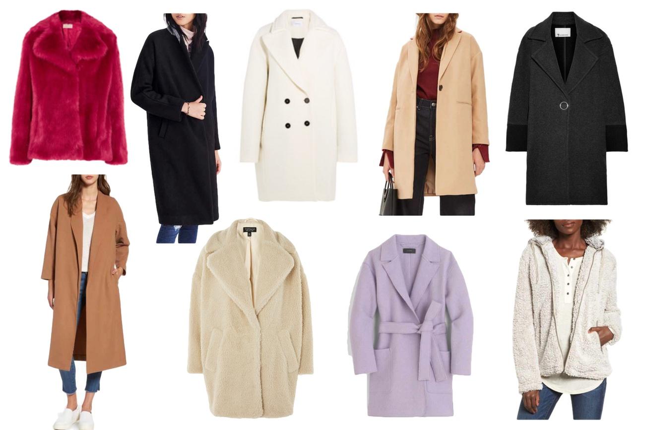 Michael Michael Kors Faux Fur / Madewell Atlas Cocoon Coat / Carven  Wool-Blend Coat / Millie Relax Coat / Oversized two-tone coat / Mural Midi  Coat / Borg ...